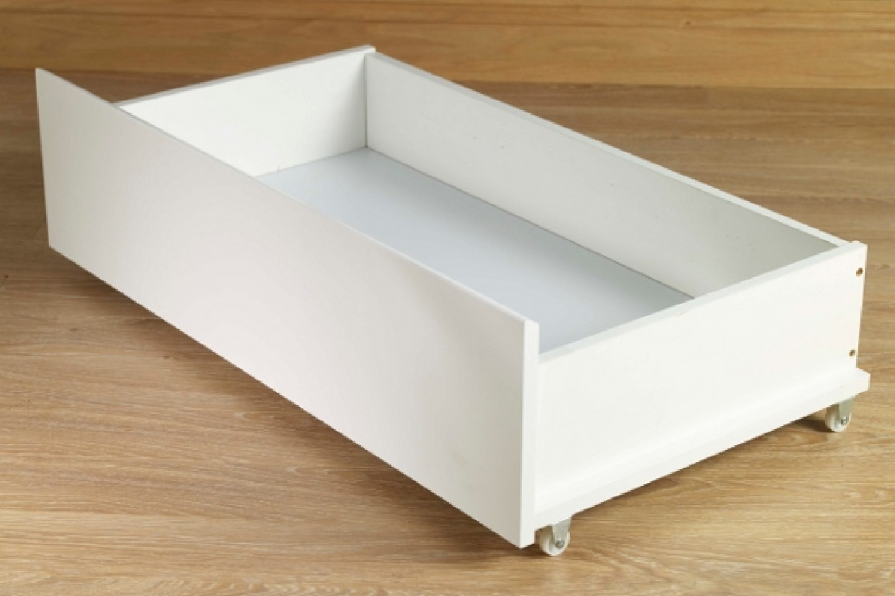 Picture of: Under Bed Storage Drawers White