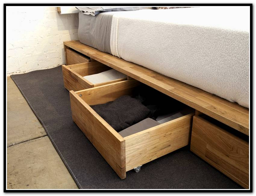 Picture of: Under Bed Storage Drawers on Wheel
