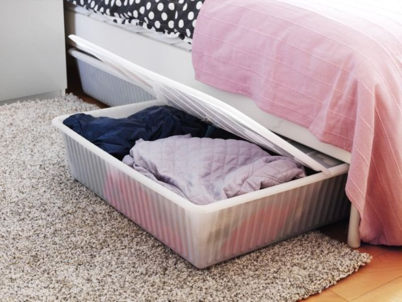 Image of: Under Bed Storage Ideas Ikea