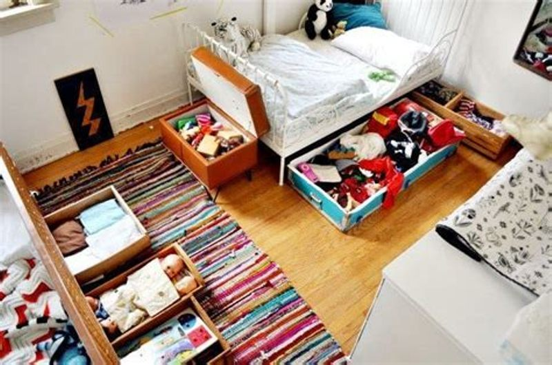 Image of: Decorative Under Bed Toy Storage Ideas