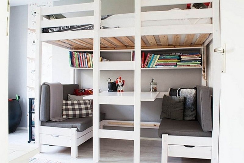 Image of: Under Loft Bed Storage Ideas