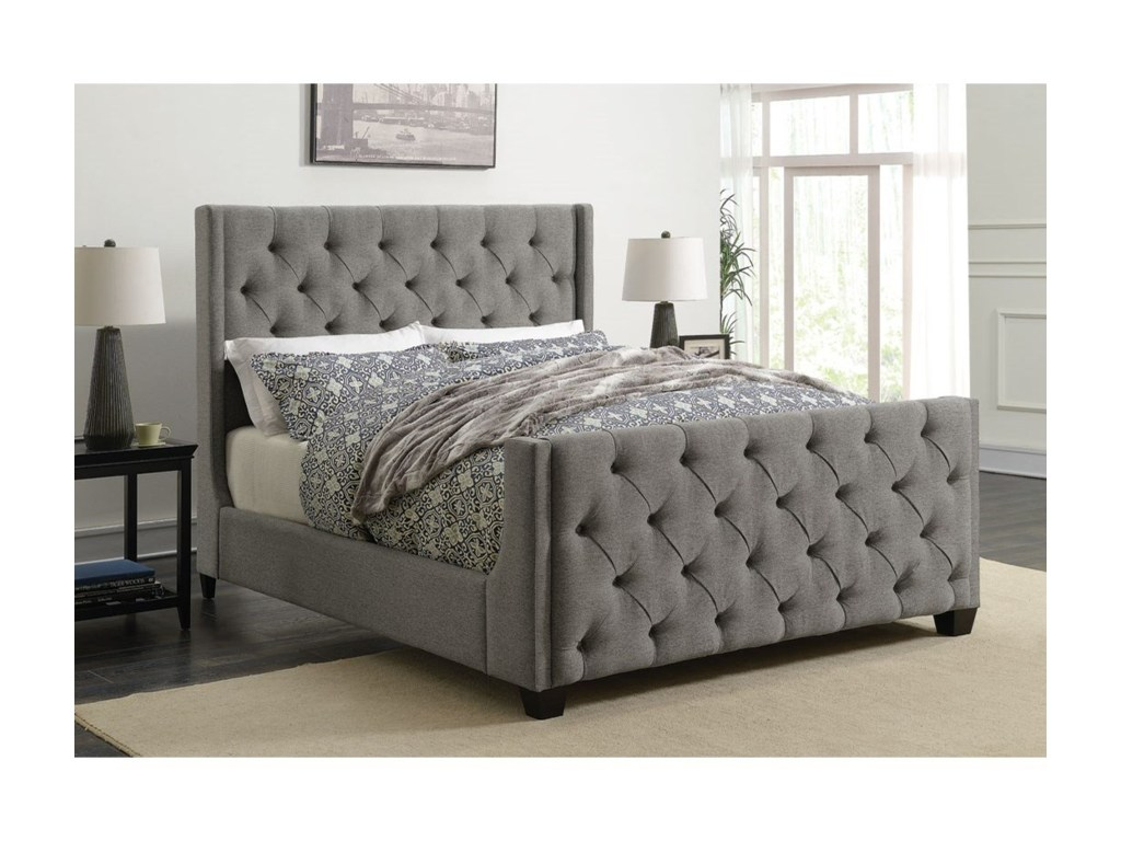 Image of: Upholstered King Bed With Storage Ideas