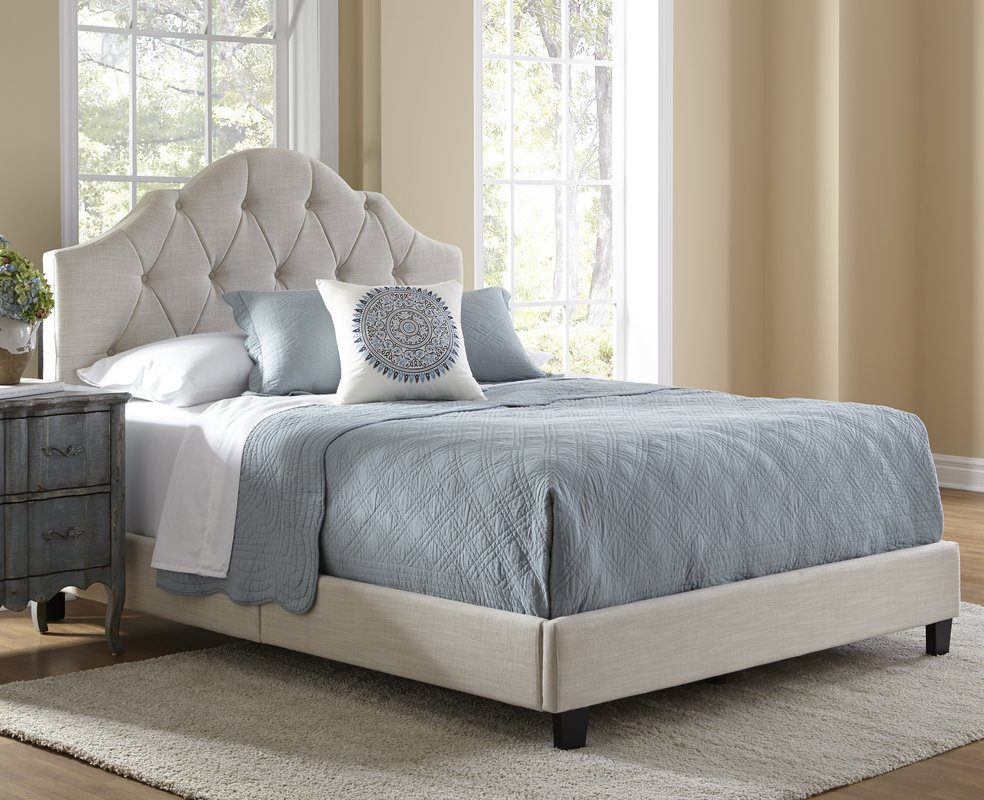 Image of: Upholstered King Bed With Storage Panel