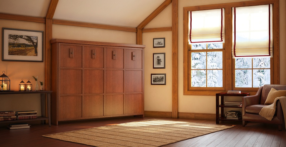 Picture of: Wall Bed with Storage Cottage