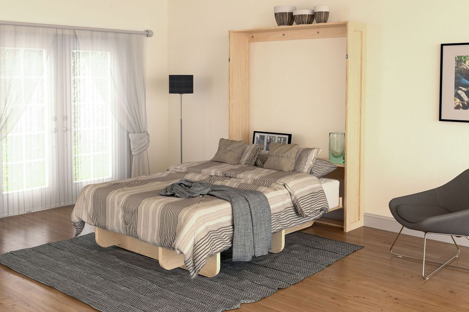 Picture of: Wall Bed with Storage Frame