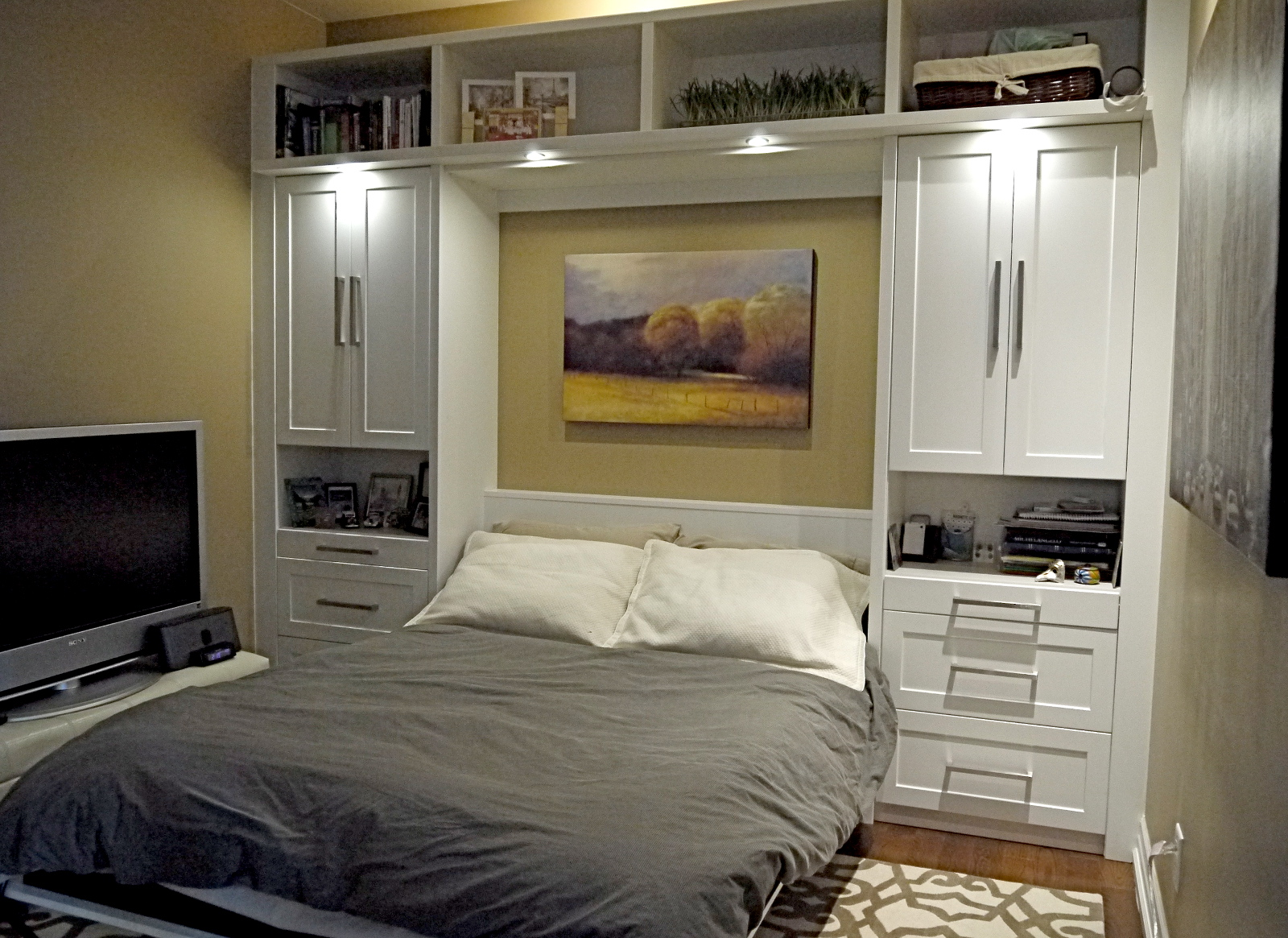 Picture of: Wall Bed with Storage Space