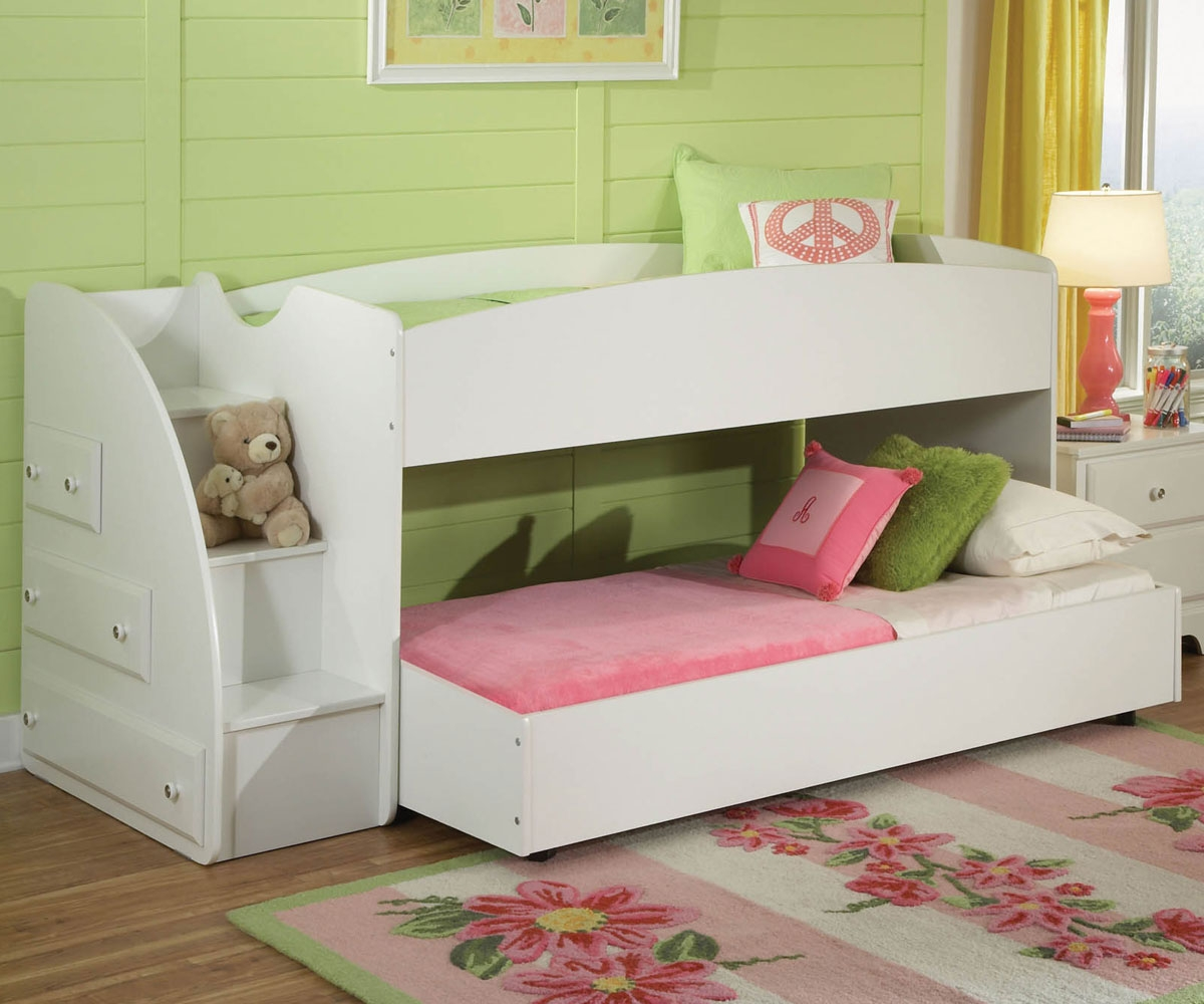 Picture of: White Bunk Beds With Storage Kids