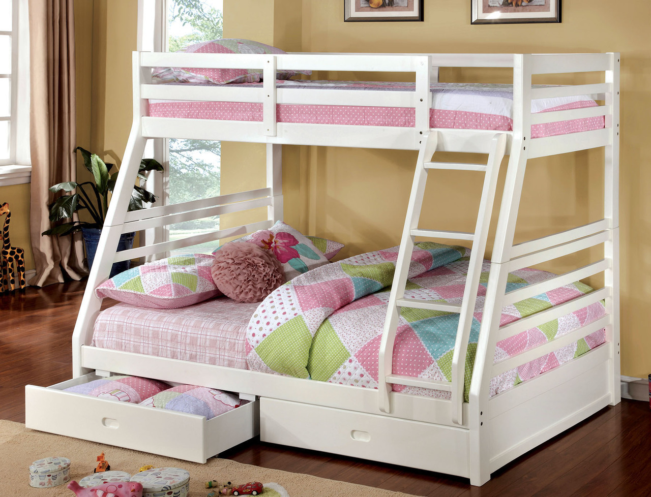 Picture of: White Bunk Beds With Storage Popular