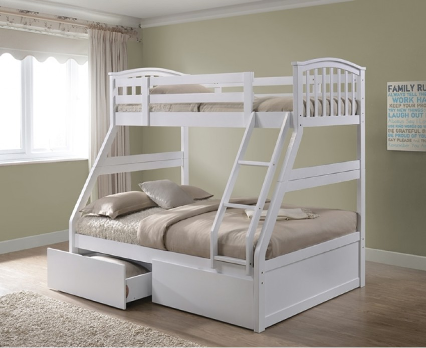 White Bunk Beds With Storage Standard