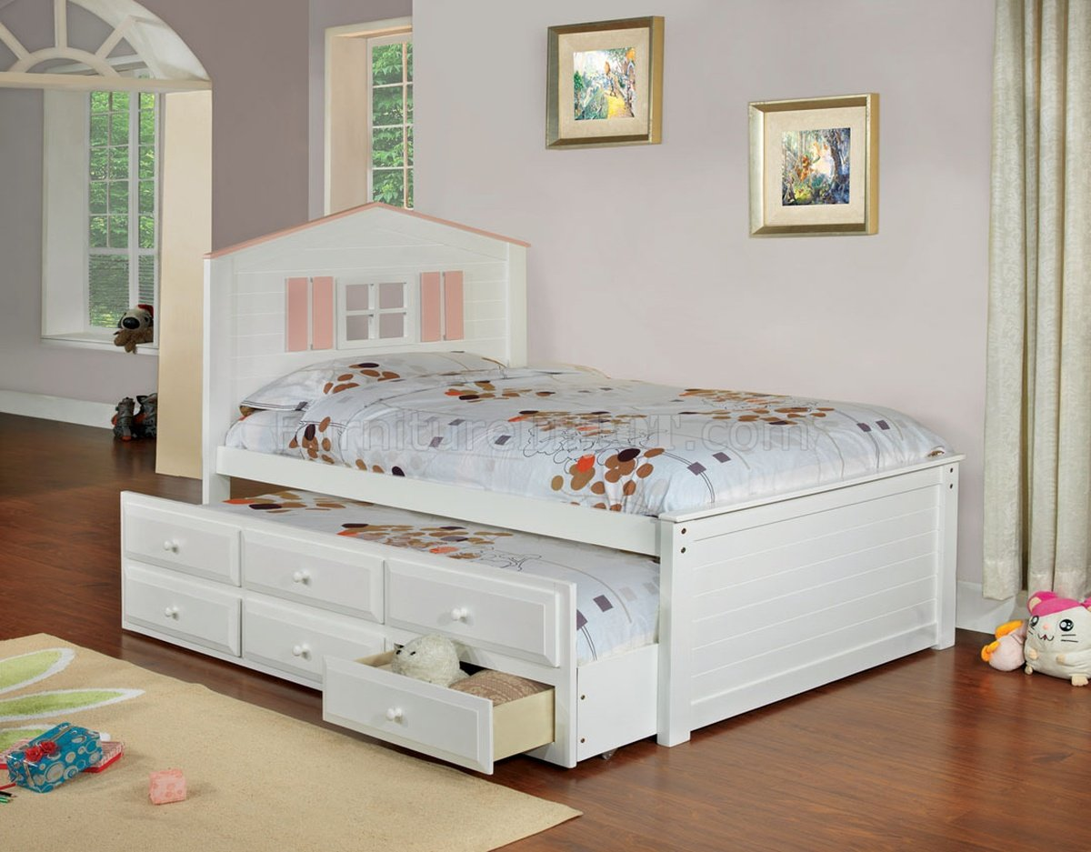 Picture of: White Captain Bed With Storage