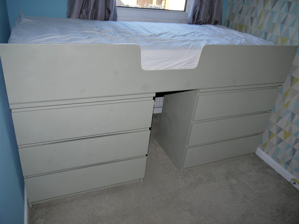 Picture of: White Ikea Hack Storage Bed