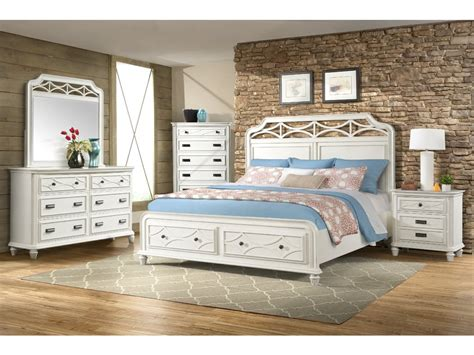 Picture of: White King Storage Bed Set