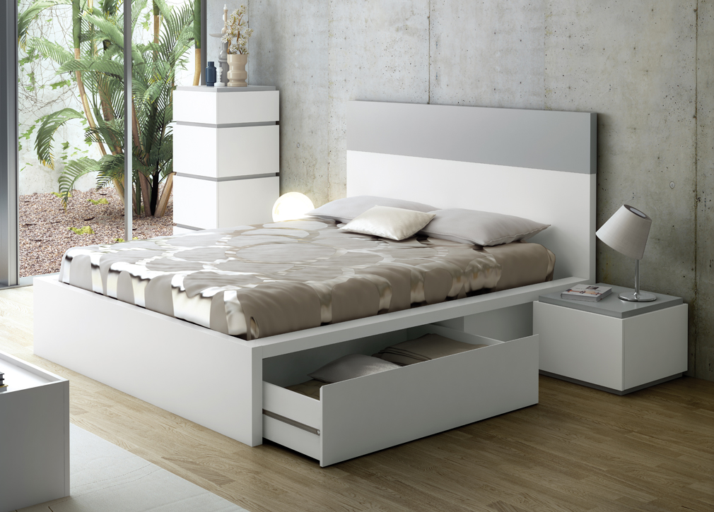 White Modern Storage Bed