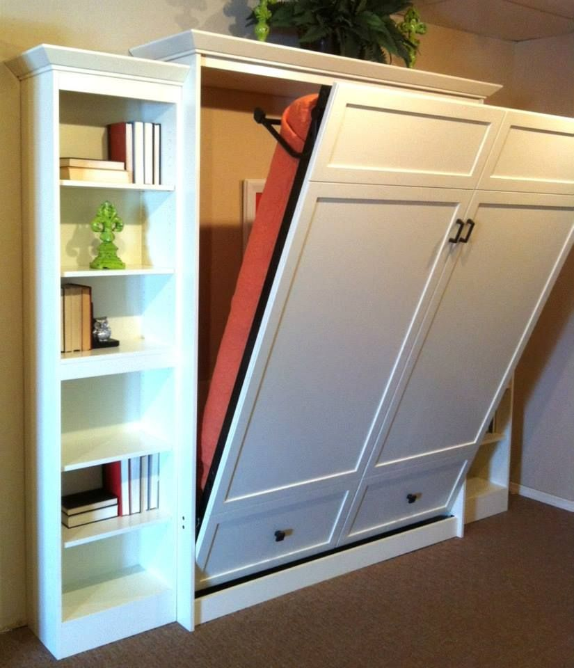 Picture of: White Murphy Wall Bed