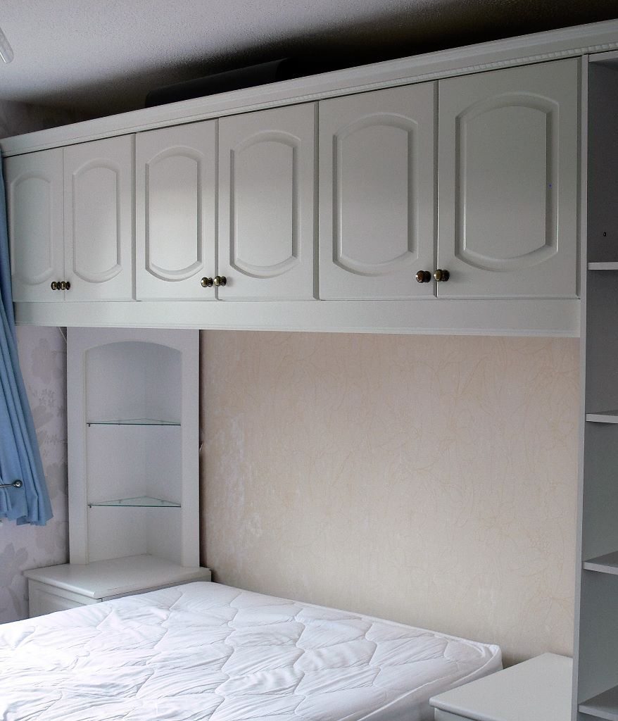 Picture of: White Over Bed Storage