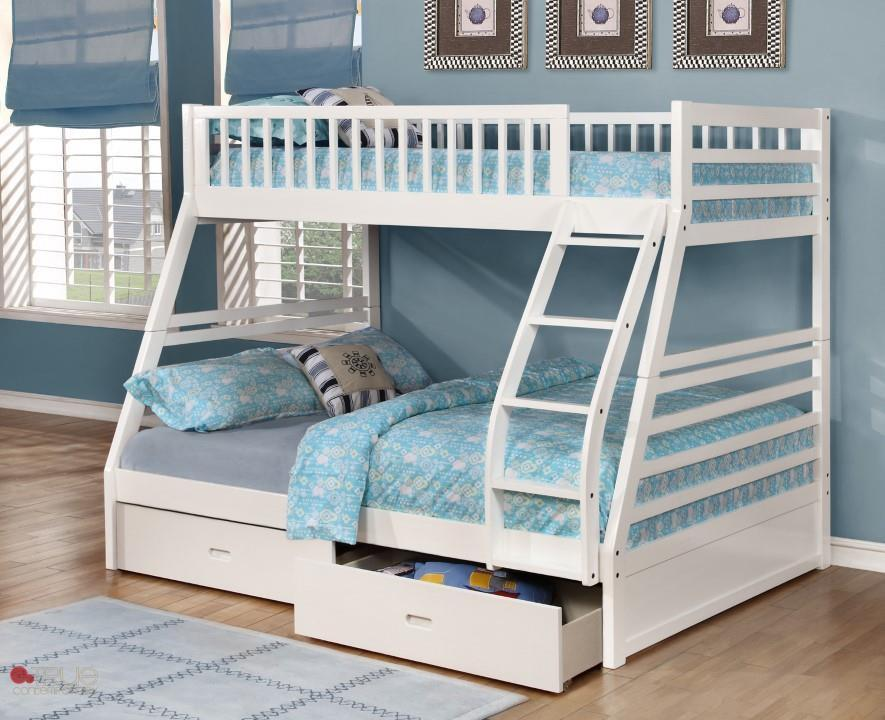 White Twin Bunk Beds With Storage