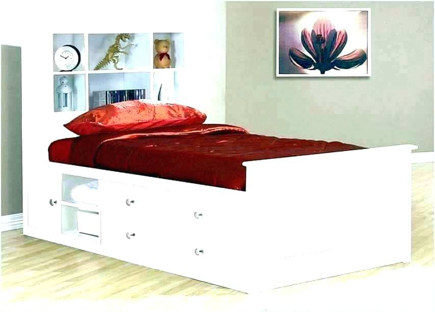 Picture of: White Twin Storage Bed