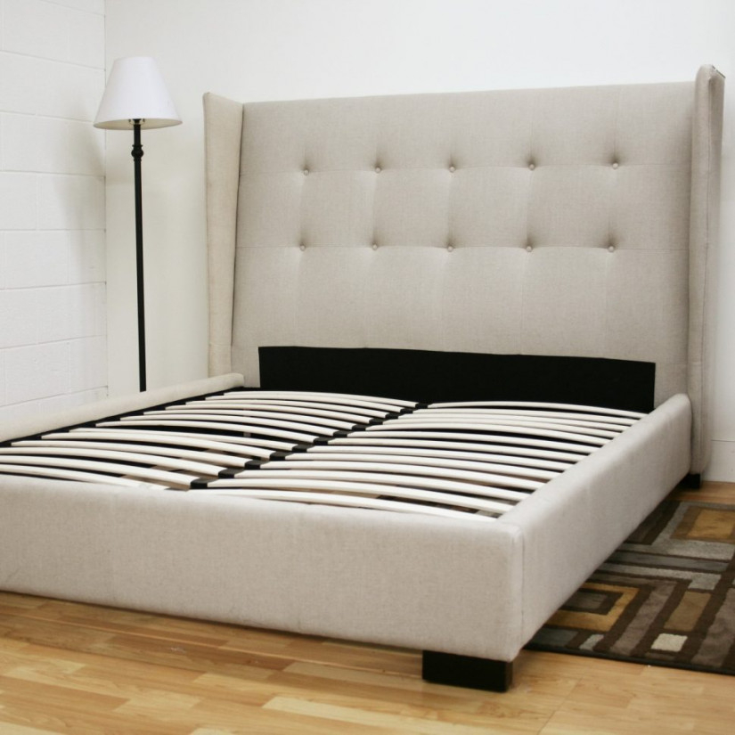 Picture of: Wingback King Storage Bed Frame
