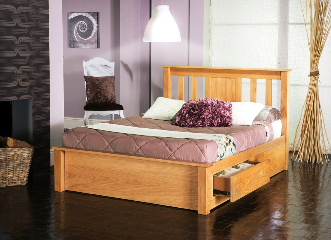 Wood Diy Platform Bed with Storage Plans