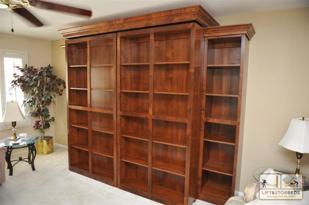Wood Murphy Bed With Storage