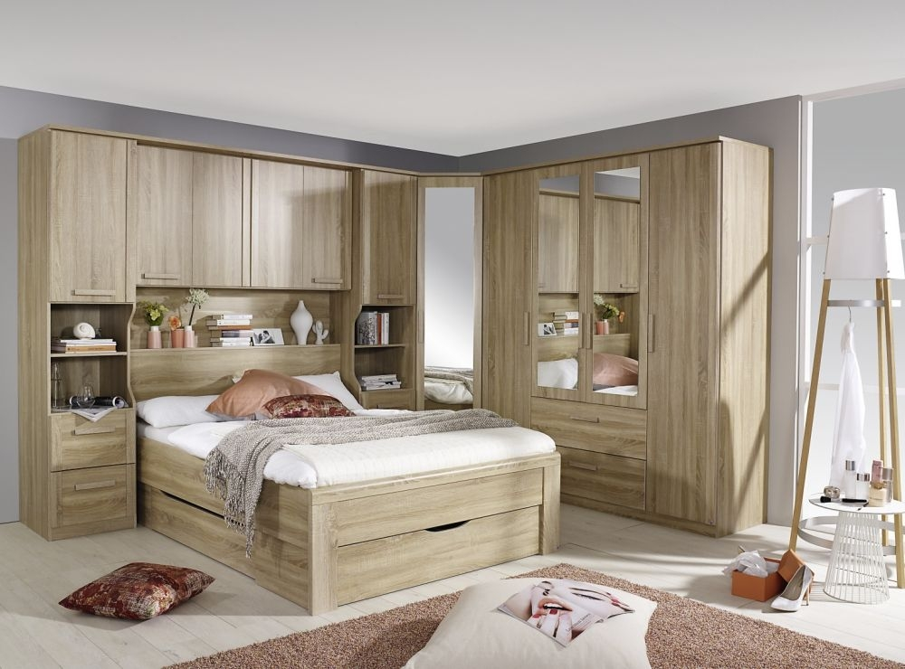 Wood Over Bed Storage