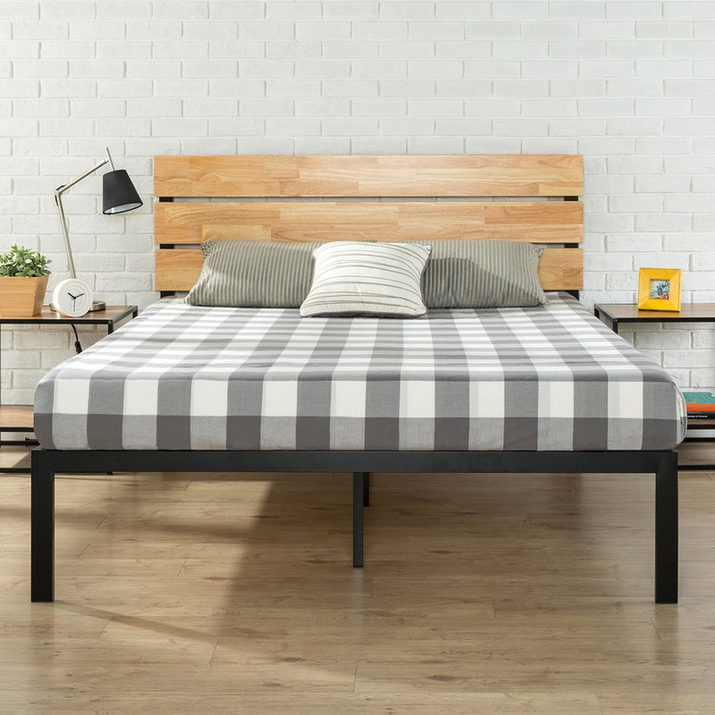 Picture of: Wood Platform Bed With Storage Combine