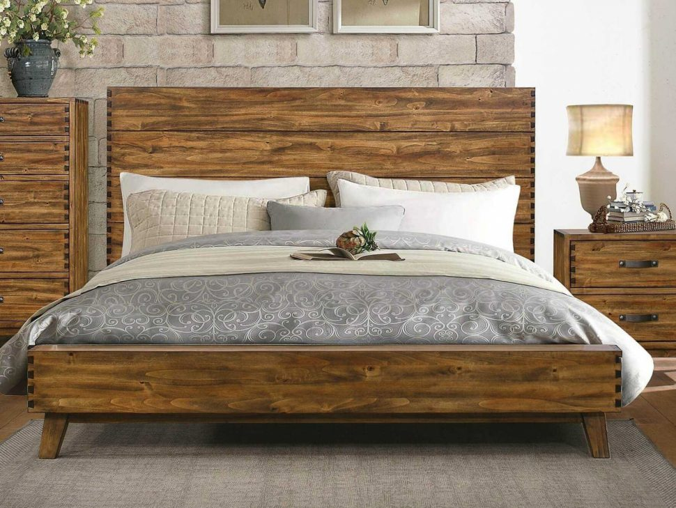 Picture of: Wood Platform Bed With Storage Idea