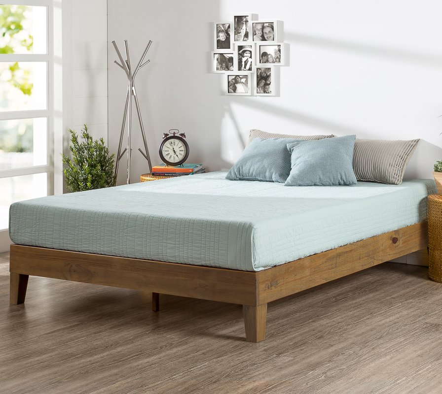 Picture of: Wood Platform Bed With Storage Size