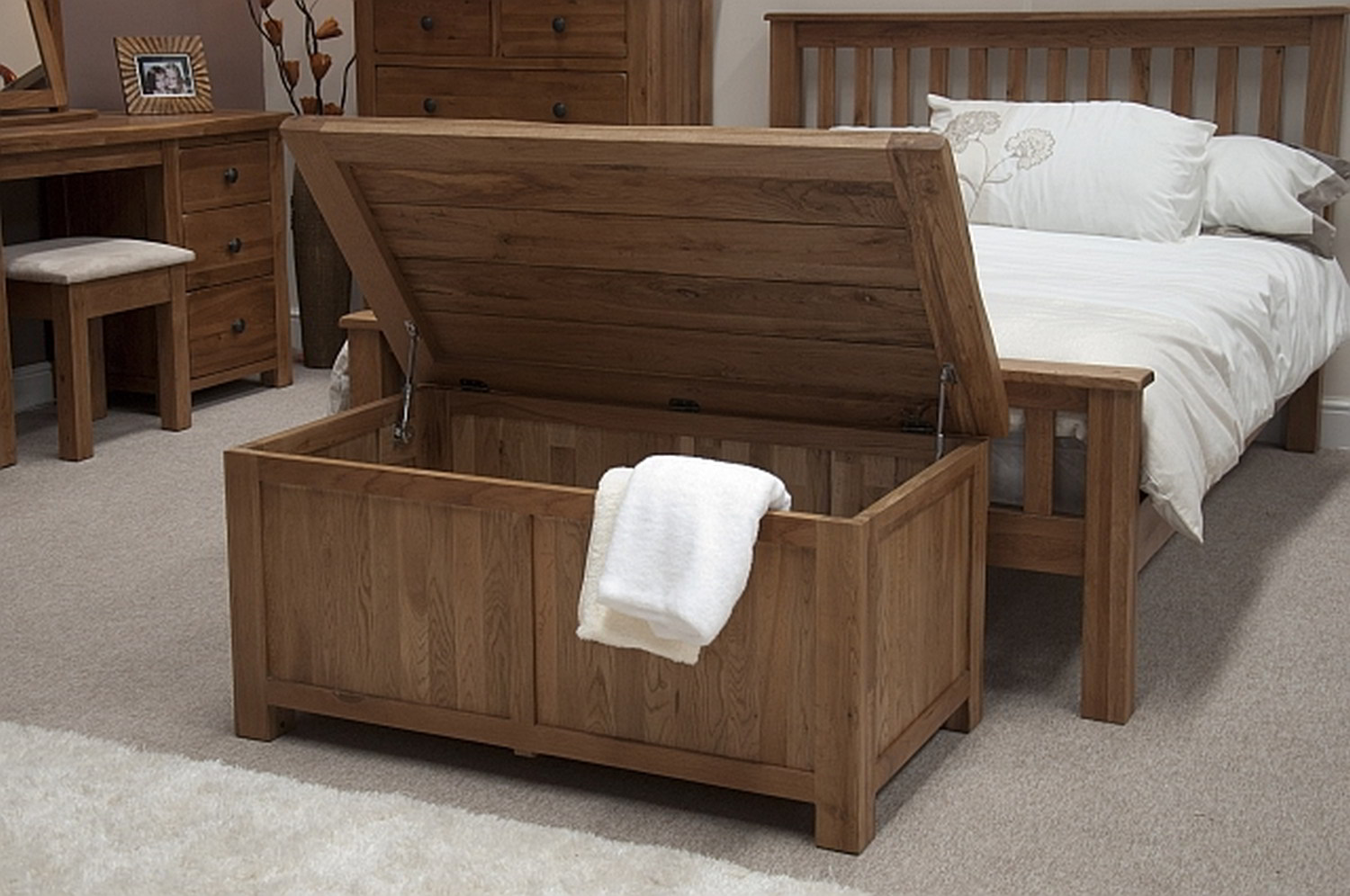 Wood Rustic Storage Bed