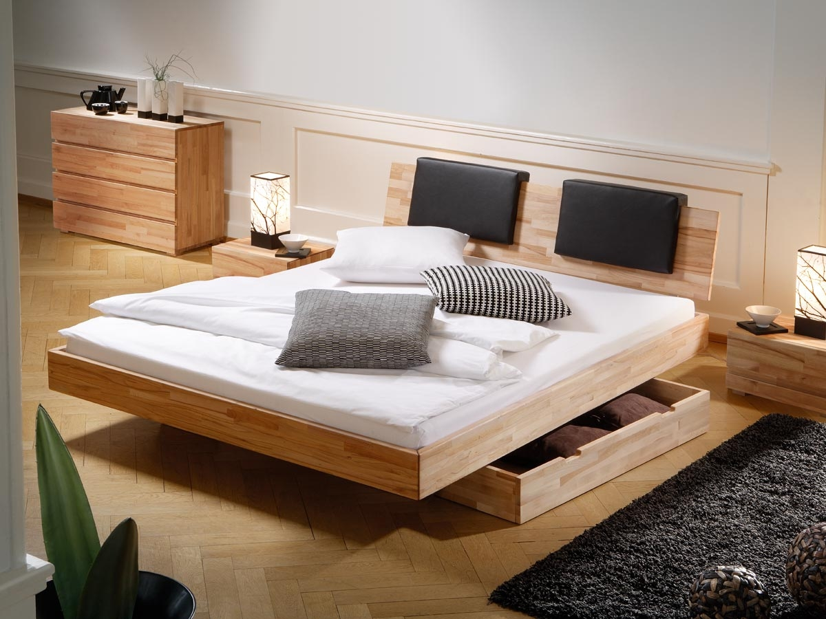 Image of: Wooden Storage Bed Plans