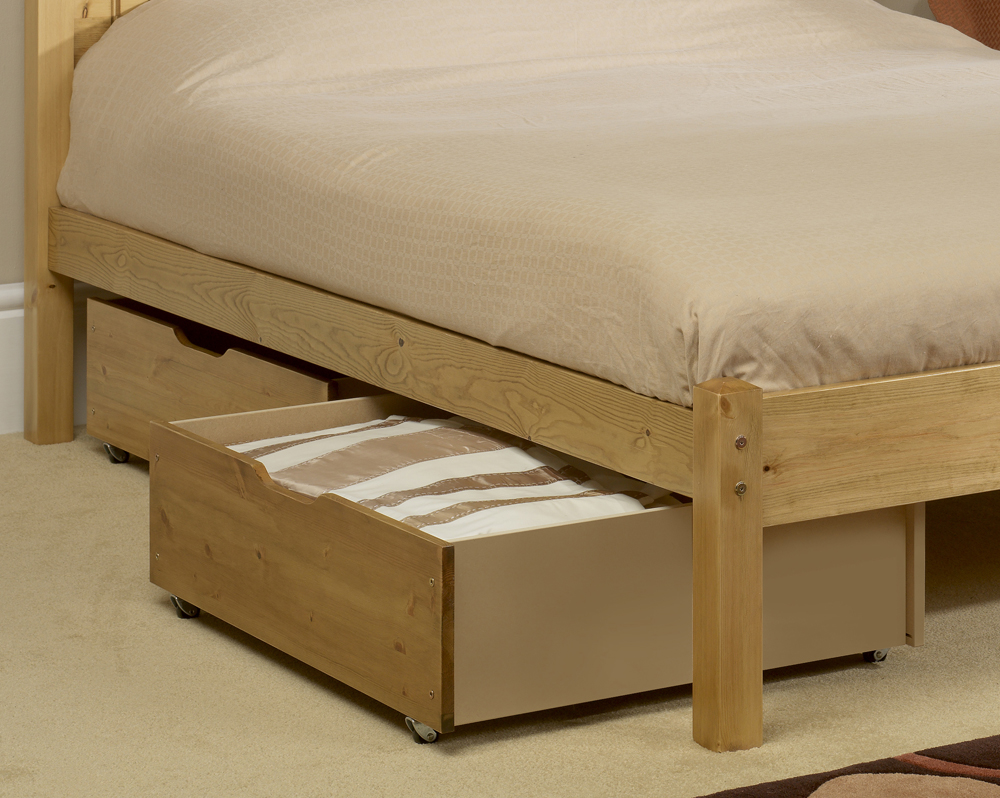 Wooden Under Bed Storage