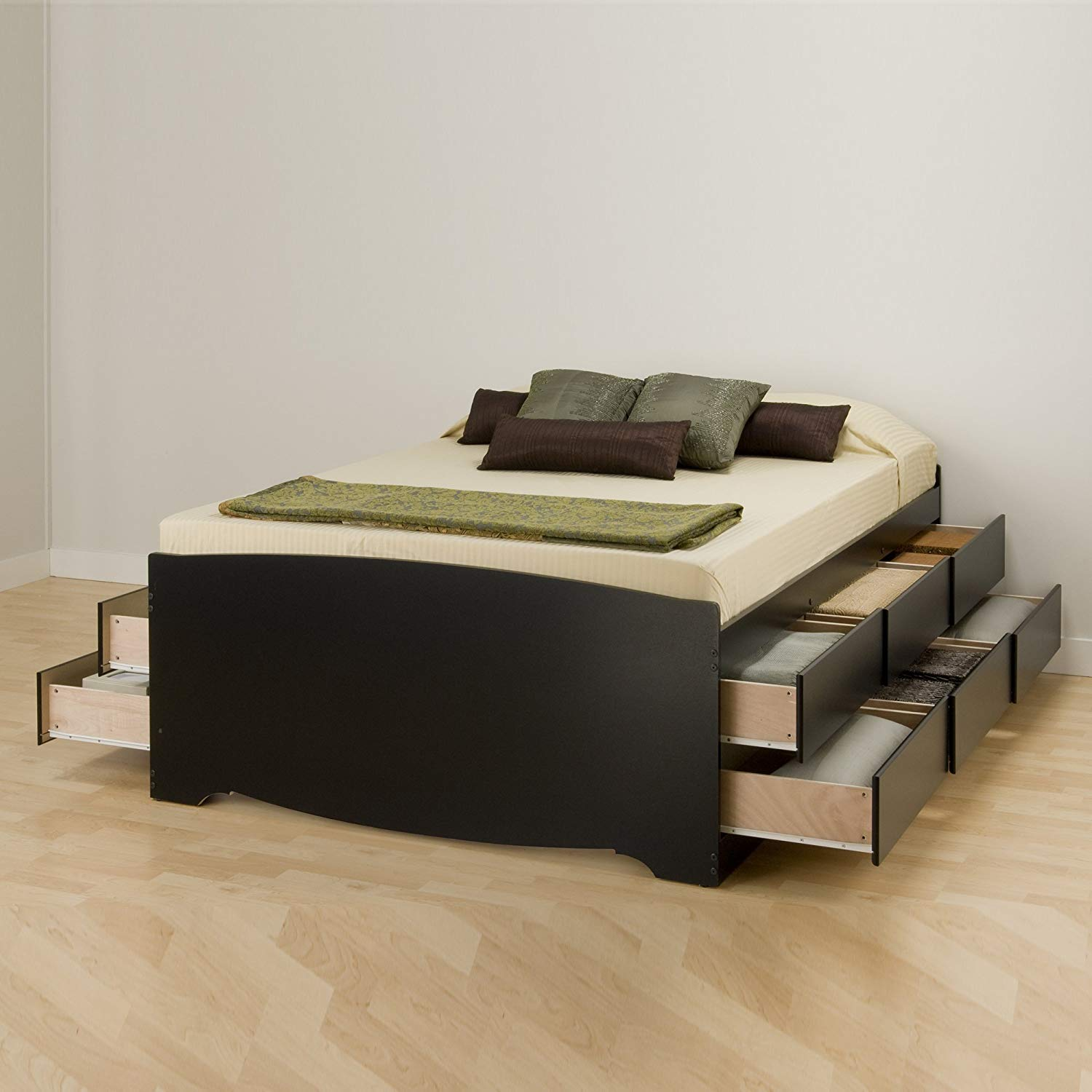 Image of: 12 Drawer Storage Bed Frame