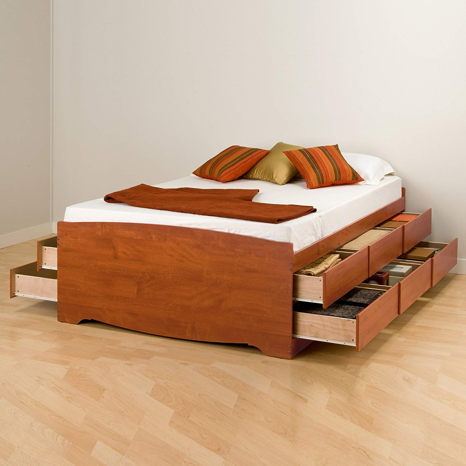 Image of: 12 Drawer Wood Bed