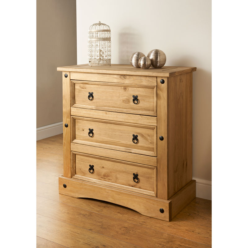 Picture of: 3 Drawer Chest Solid