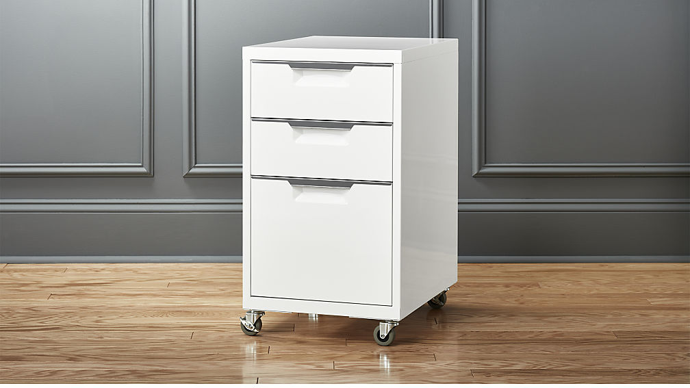 Picture of: 3 Drawer File Cabinet on Wheel