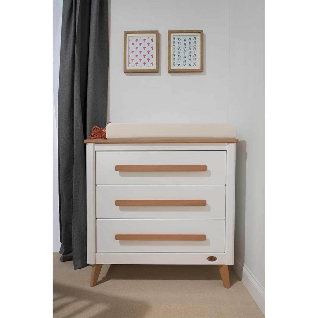 Picture of: 3 Drawer White Chest