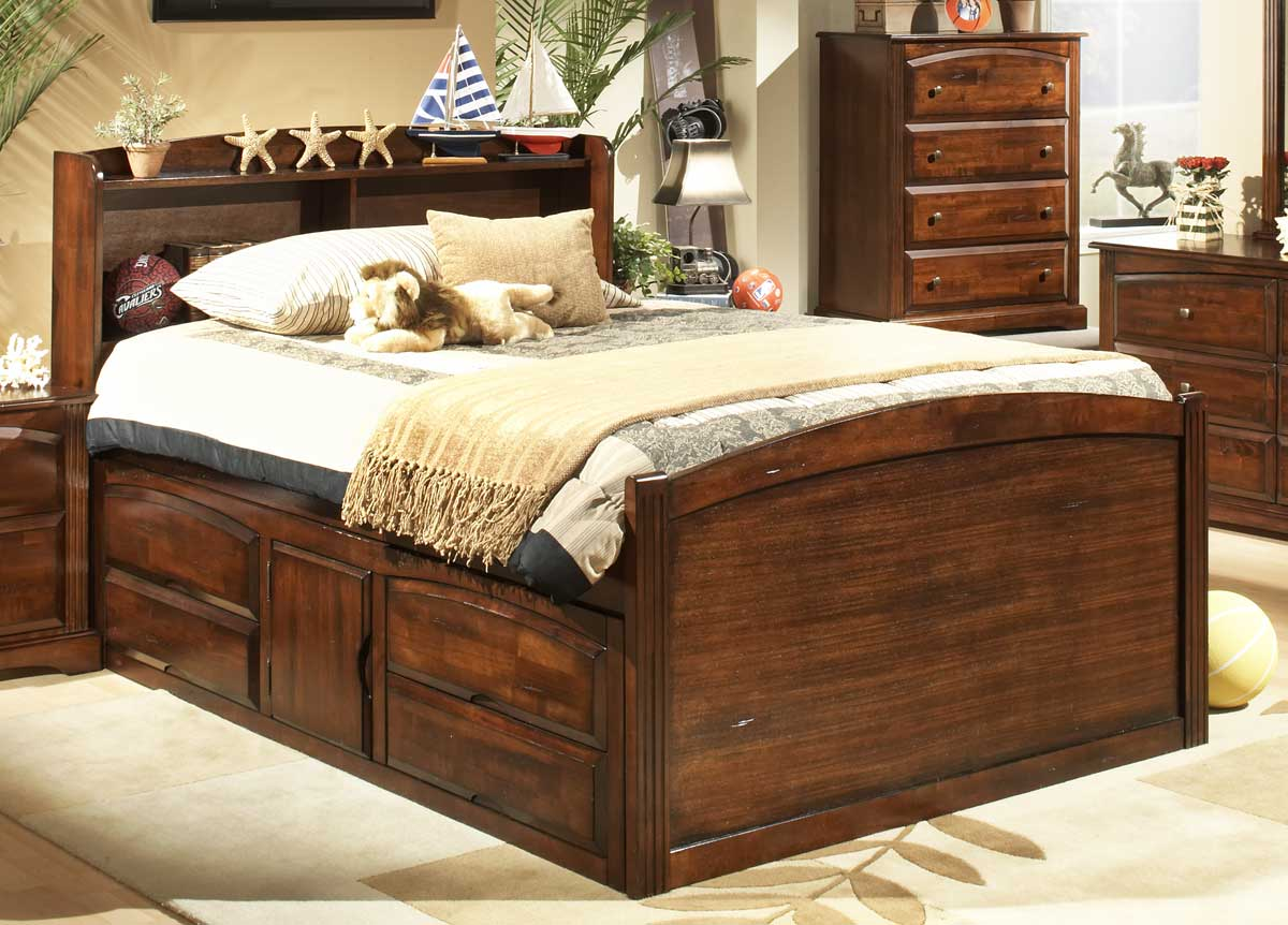 Image of: 4 Drawer Bed