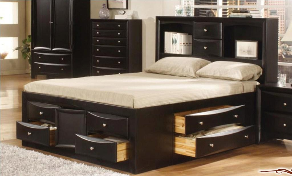 Image of: 6 Drawer Storage Bed