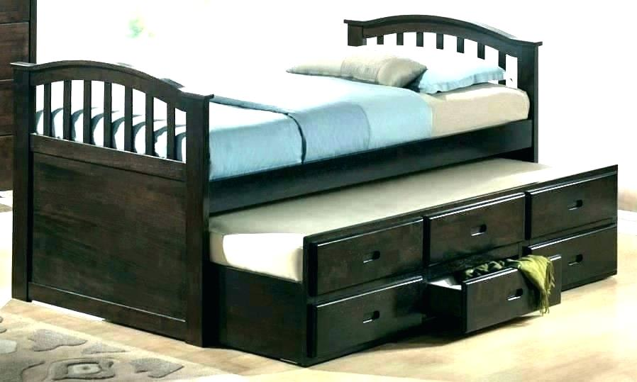 Image of: 6 Drawers Captain's Tall Twin Platform Storage Bed Black – Prepac Ideas
