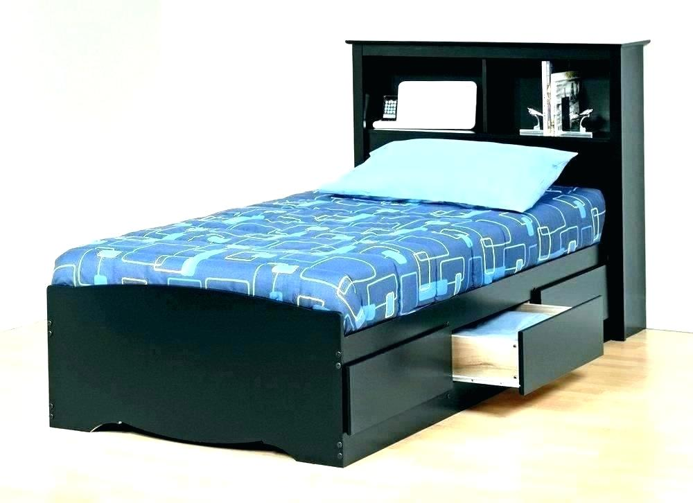 Image of: 6 Drawers Captain's Tall Twin Platform Storage Bed Black – Prepac