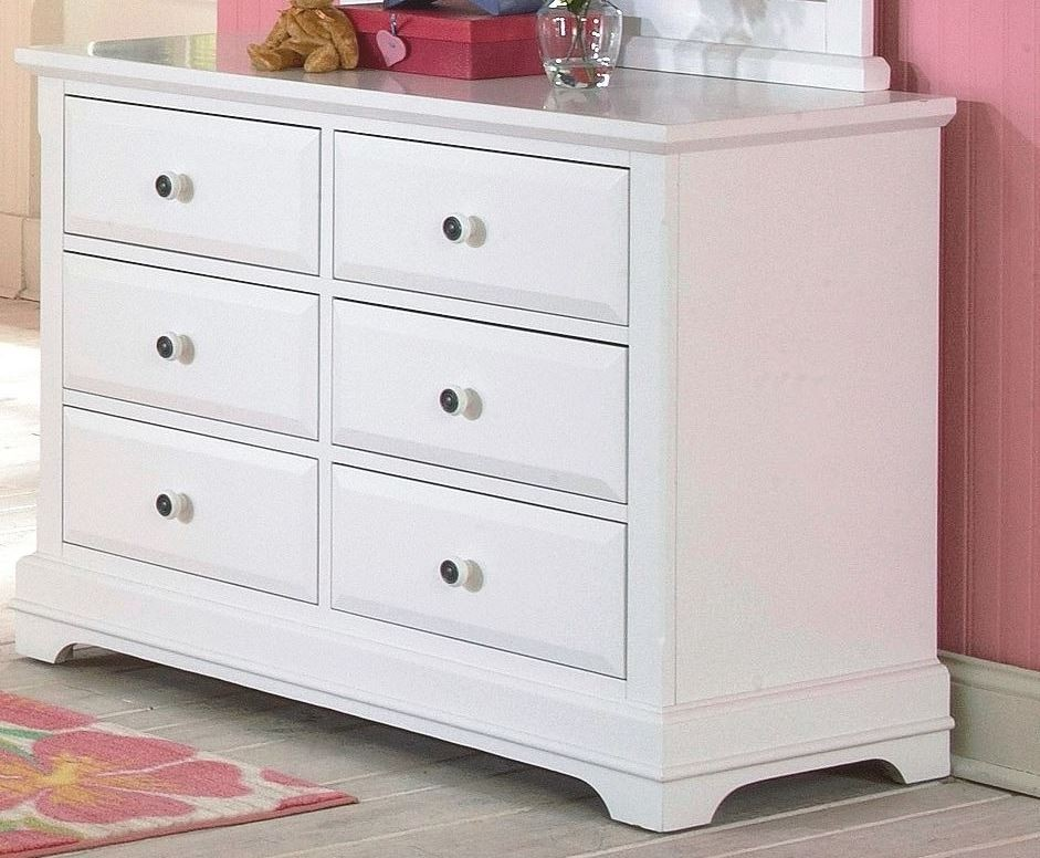 Picture of: Bayfront White 6 Drawer Youth Chest Storage