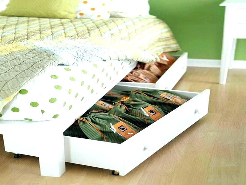 Image of: Best Under Bed Drawer on Wheels Design