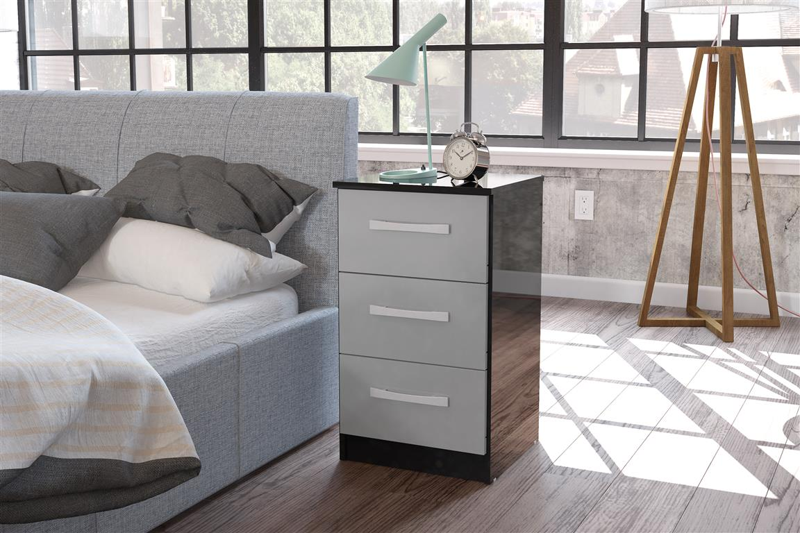 Image of: Black 3 Drawer Chest Of Drawers