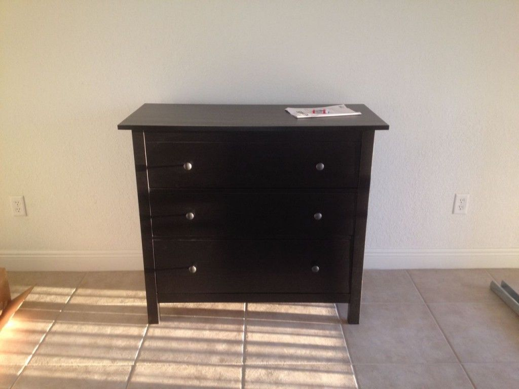 Black Gloss 3 Drawer Chest
