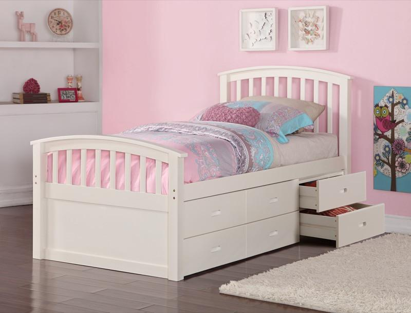 Image of: Black Twin 6-Drawer Captain's Platform Storage Bed