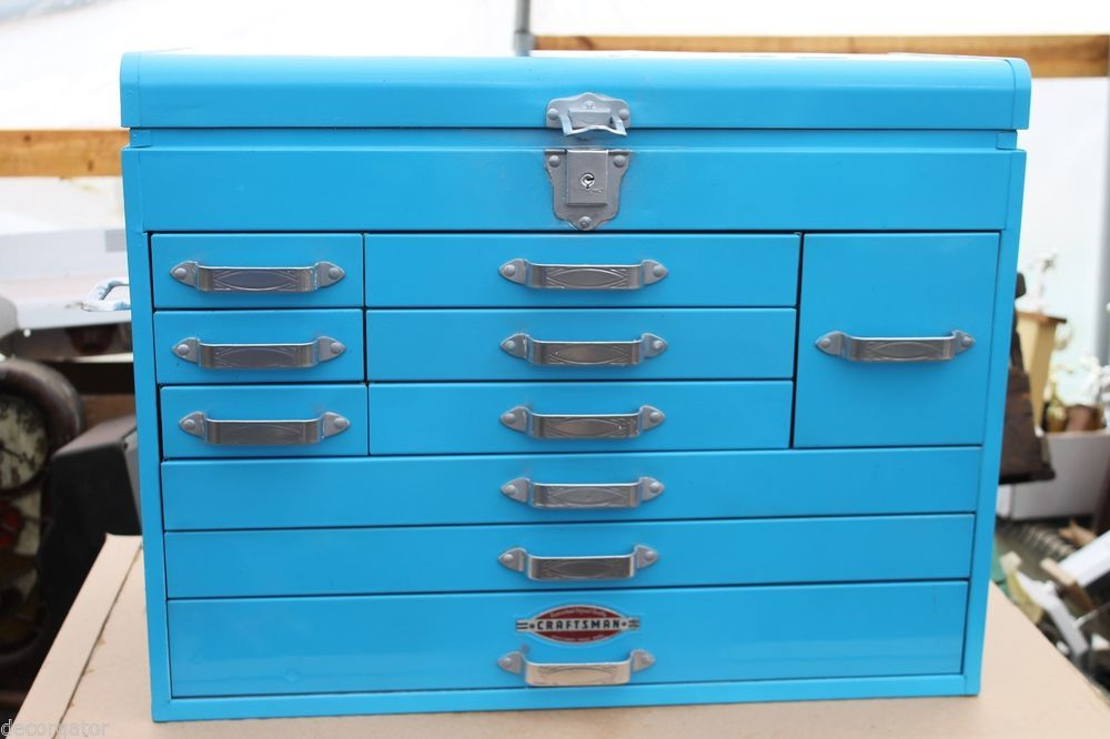 Picture of: Blue Craftsman 10 Drawer Tool Chest