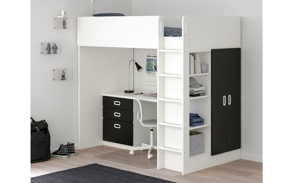 Bunk Bed with Drawers Desk