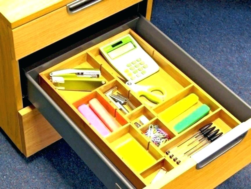 Image of: Cabinet Drawer Organizer Bins