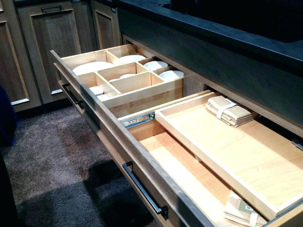 Image of: Cabinet Drawer Organizer Pull Outs