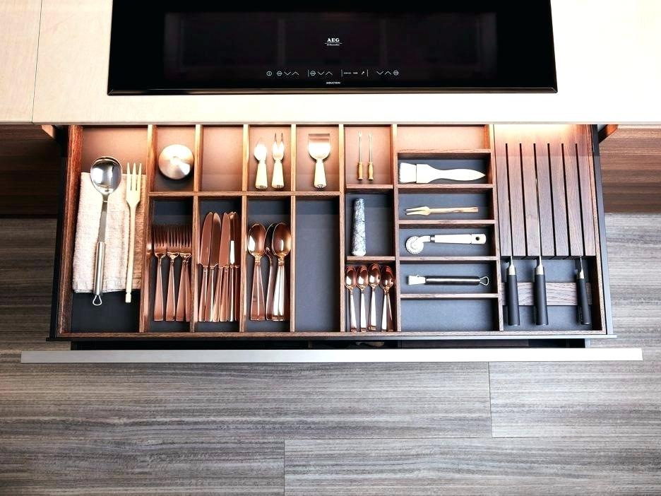 Image of: Cabinet Drawer Organizer Trays